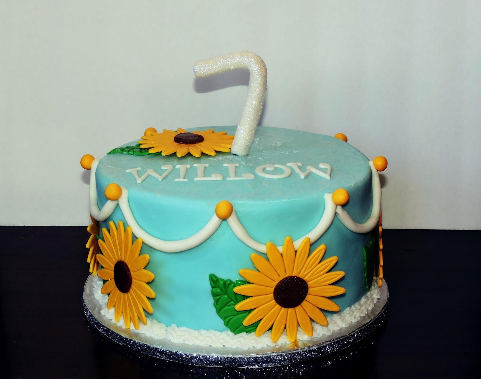 Cakesor Something Like That Sunflower Cake From Frozen Blue