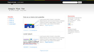 Google Plus Fan Blogger Template
