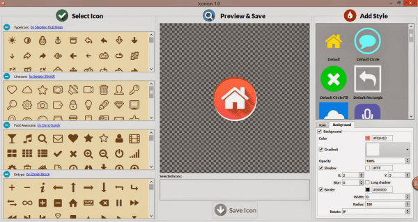 Iconion Icon maker preview