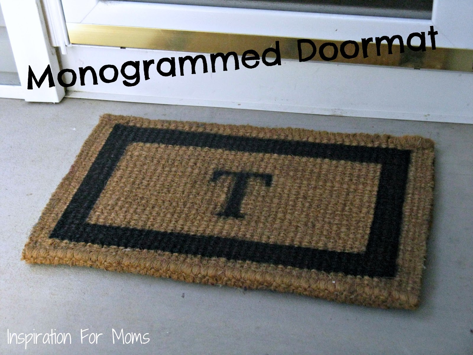 DIY: Pottery Barn Inspired Monogrammed Doormat Tutorial