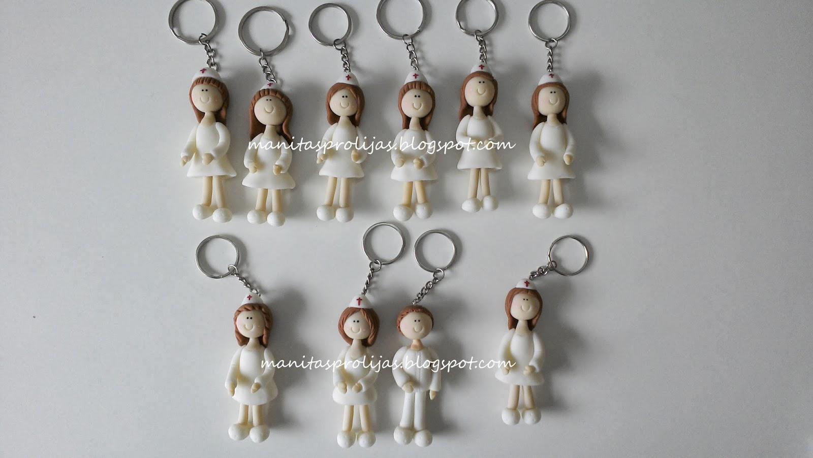 Manitas prolijas 80 llaveros de enfermer s en porcelana - Regalos para enfermeras ...