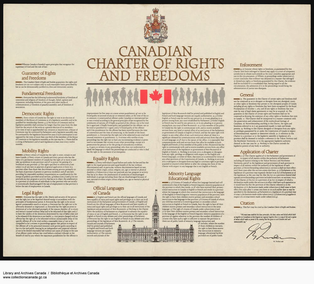 an overview of the canadian charter or rights and freedom Mcateer v attorney general  global freedom of expression is an academic initiative and therefore,  of the canadian charter of rights and freedoms.