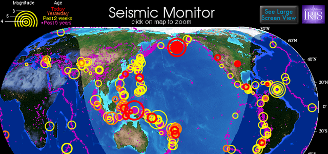 IRIS Incorporated Research Institutions For Seismology - Solo Nuevas