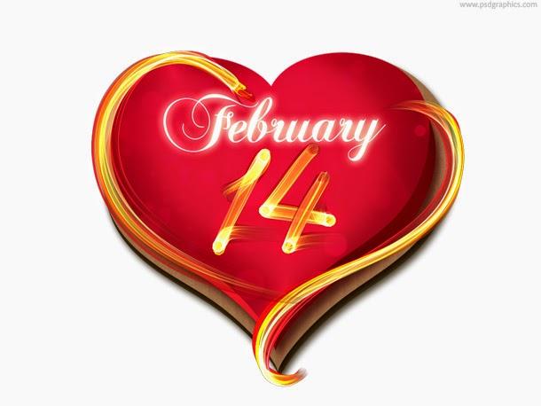 Valentine's Day Calendar PSD