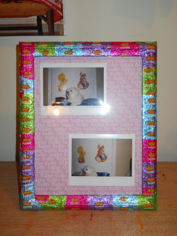 punk projects: One Step Candy Wrapper Frame DIY from Katie