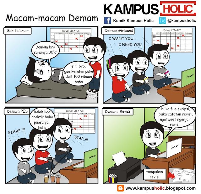 #212 Macam-macam Demam, ala mahasiswa komik kampus holic