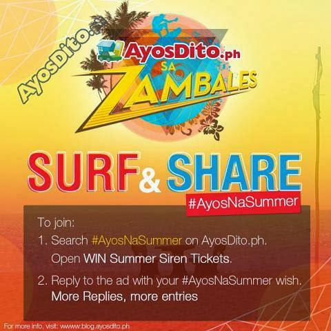 Win a Beach Party Passes with AyosDito AyosNaSummer Contest
