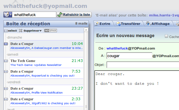 adresse email anonyme