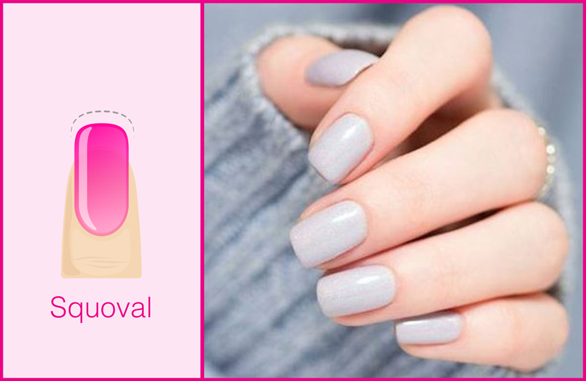 Perfect For Short Nails Nail Goals Low Maintenance Natural Shape A Squared Oval Like Square Tip But With Slightly Rounded Edges