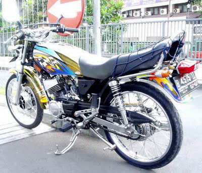 Modif Motor Rx King Warna Putih