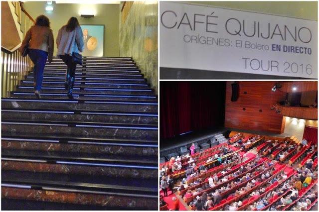 Teatro de la Laboral antes del concierto de Café Quijano el 23 de enero de 2016 en Gijon
