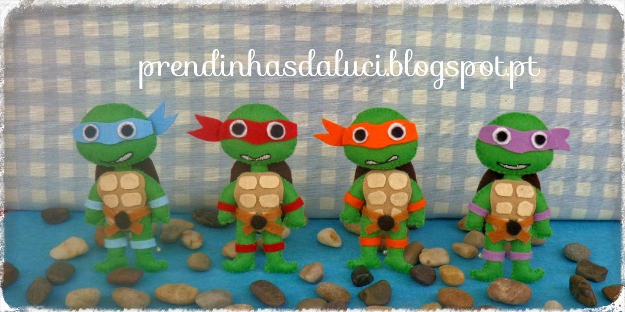 Tartarugas ninja em feltro