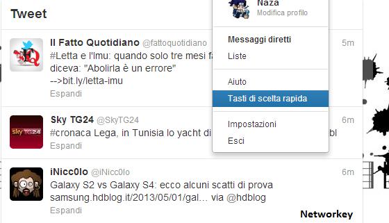 tasti Twitter