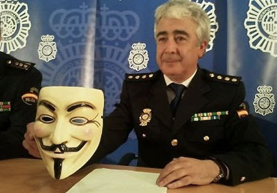 Spanish cops ask for trouble, say they've nabbed 3 Anonymous hackers.