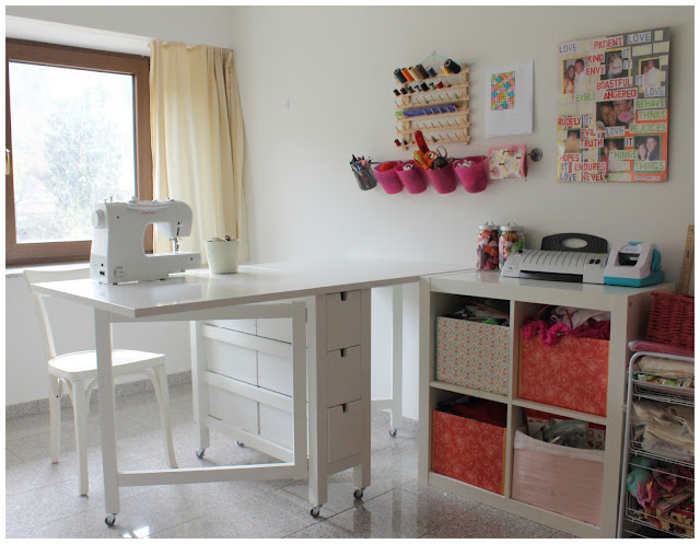 make it cozee norden gateleg with wheels sewing table. Black Bedroom Furniture Sets. Home Design Ideas