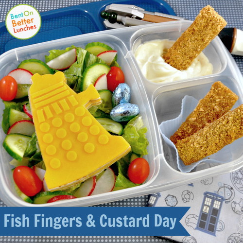 Fish fingers & custard day Dalek bento lunch