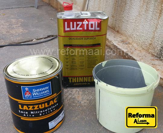 Tinta Alumínio e Thinner