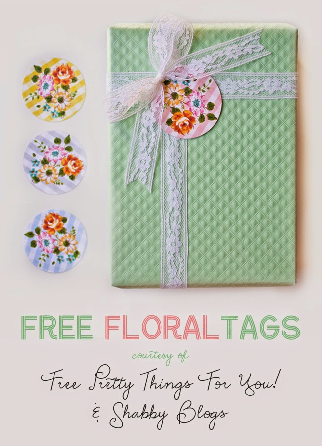 pretty floral tags,