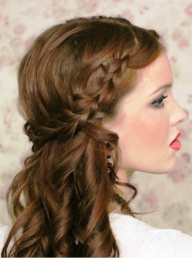 Peinado navide 209 o media corona trenzada v 237 deo 3 peinados navide 241 os
