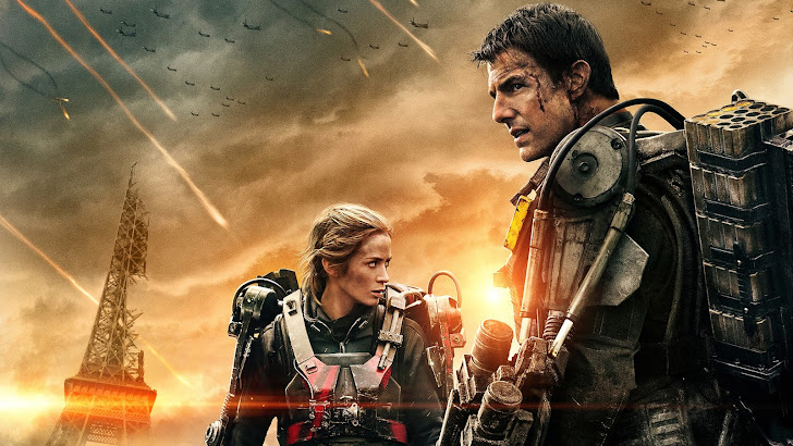 emily blunt as rita and tom cruise as cage in edge of tomorrow 2014 hd