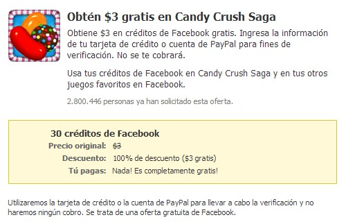 creditos gratis candy crush saga