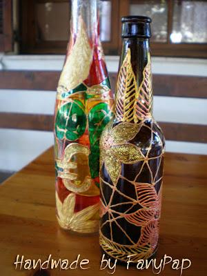 Ζωγραφισμένα πολύχρωμα μπουκάλια!