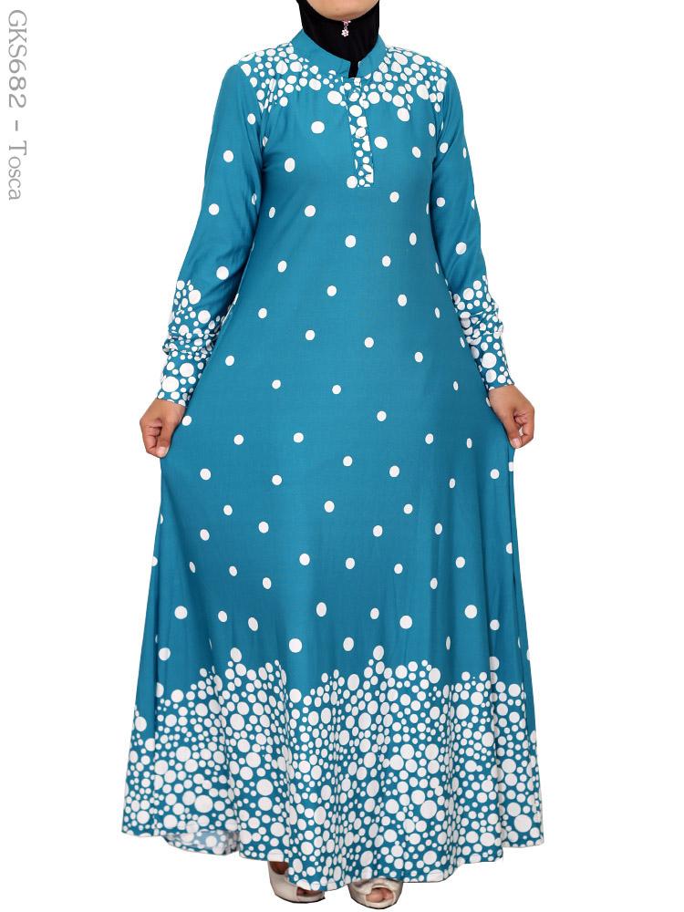 Gamis Cantik Muslimah Gks682 Busana Muslim Murah Terbaru