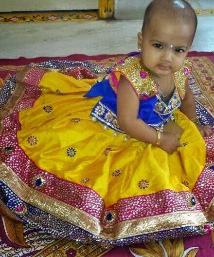 Gorgeous Baby in Yellow Skirt
