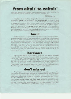 Zaltair brochure Front