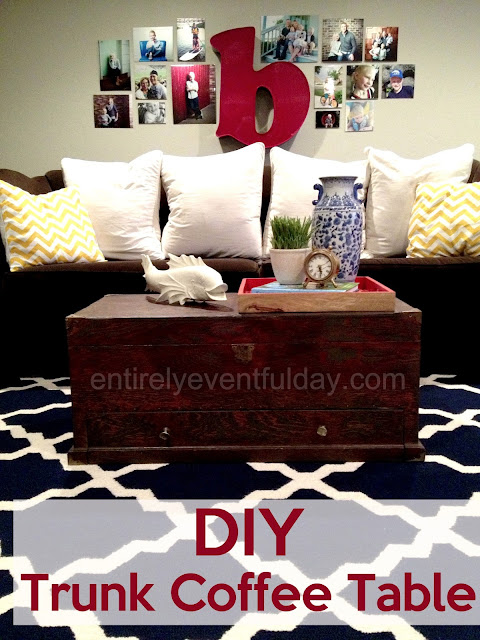 DIY Trunk Coffee Table.  This used to be an old tool chest!  entirelyeventfulday.com