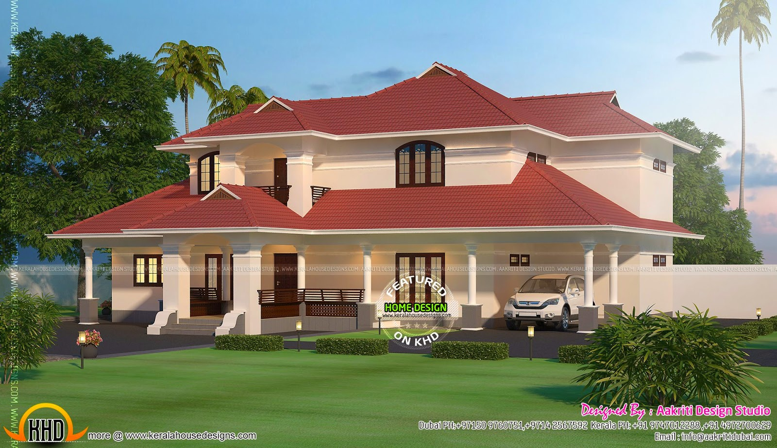 2900 square feet new villa exterior kerala home design for New villa design