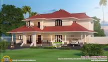 2900 Square Feet Villa Exterior - Kerala Home Design