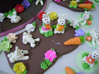 doces modelados, cenoura, coelhos