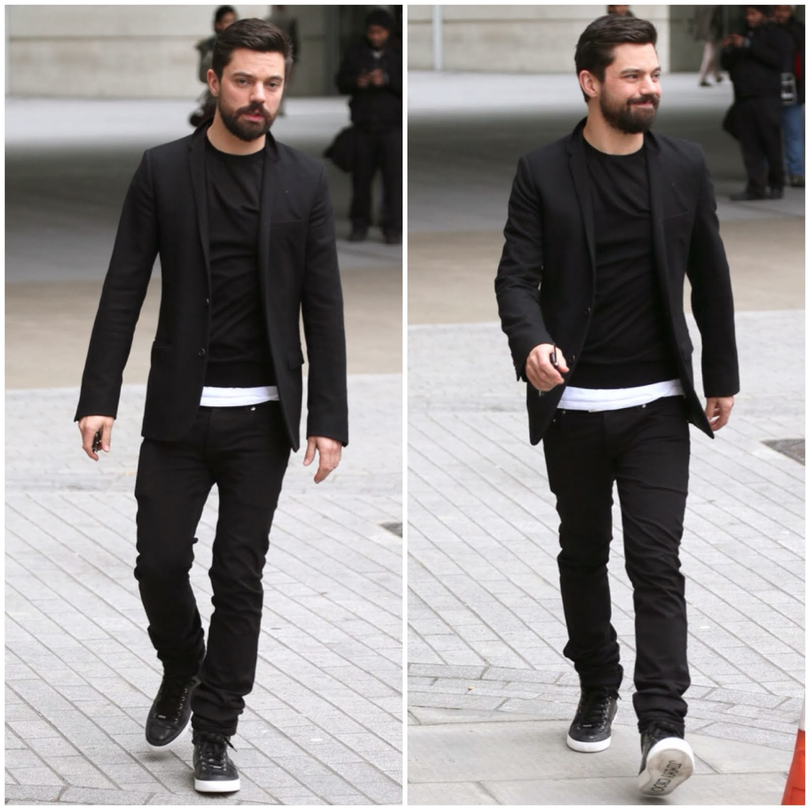 Dominic Cooper's Jimmy Choo 'Belgravia' sneakers - London Street Style