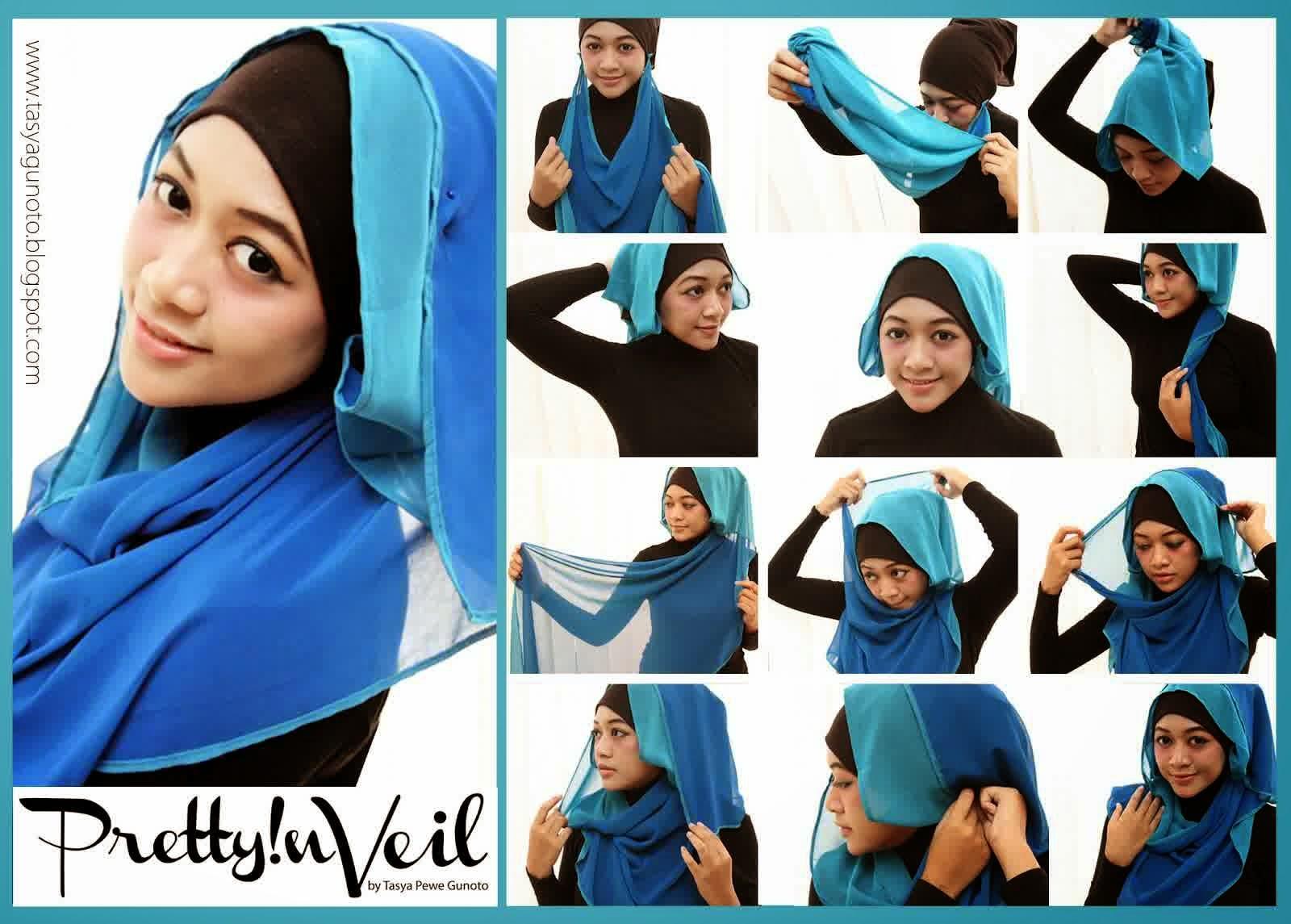 Cara Memakai Jilbab Kreasi Modern Tutorial Cara Berjilbab