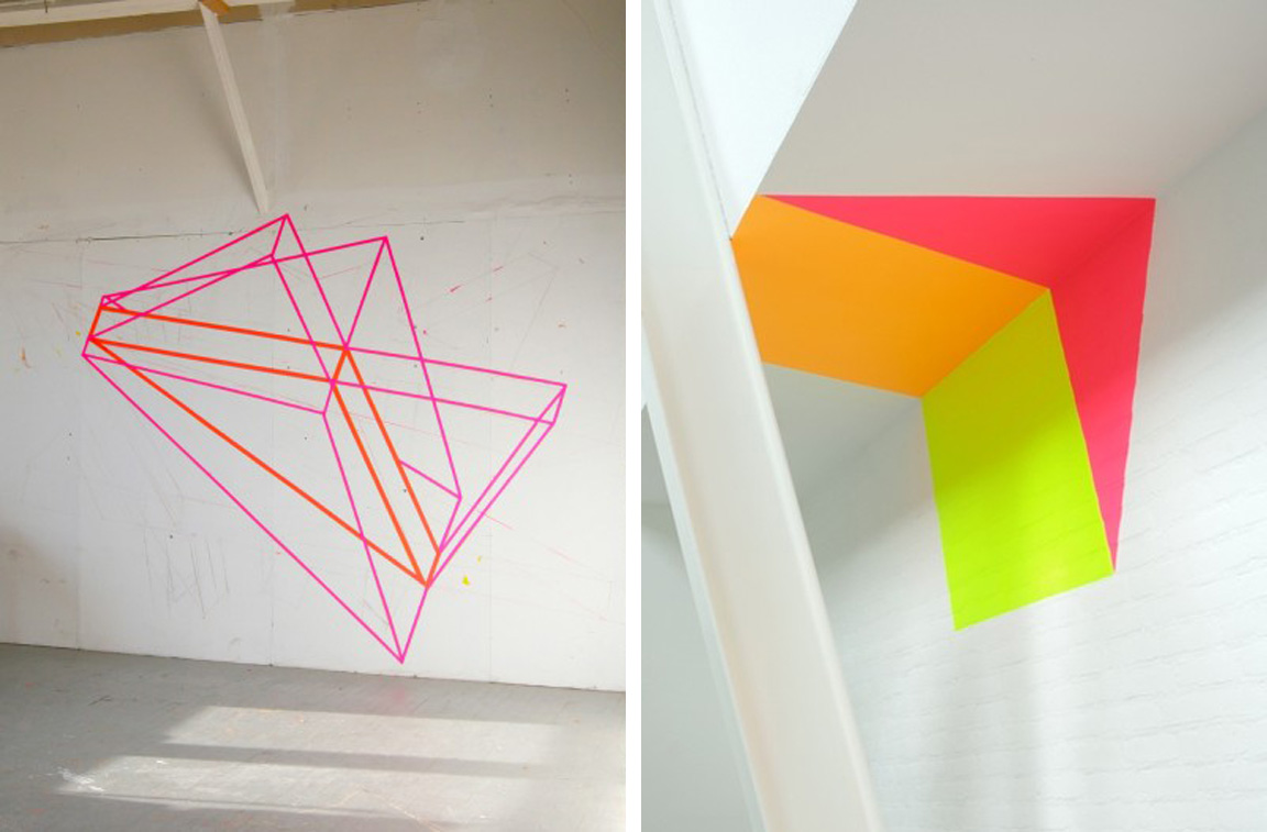 Neon Bedroom Black White Yellow Bedroom Inspiration Neon Geometric