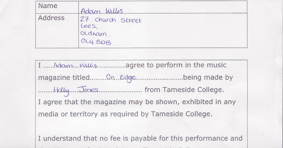 Model Release Form. Preston College: Copyright And Model Release