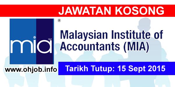 Jawatan Kerja Kosong Institut Akauntan Malaysia (MIA) logo www.ohjob.info september 2015