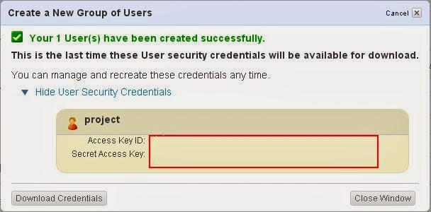 need secret key key id and bucked how to s3