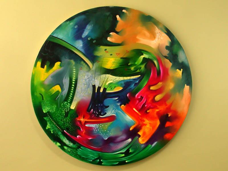 Oleo pintura moderna pintor pedro cabrera cuadros modernos for Cuadros coloridos modernos
