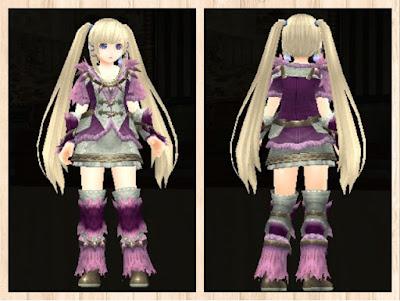 緑竜の衣 紫1+桃2+白3 重量化