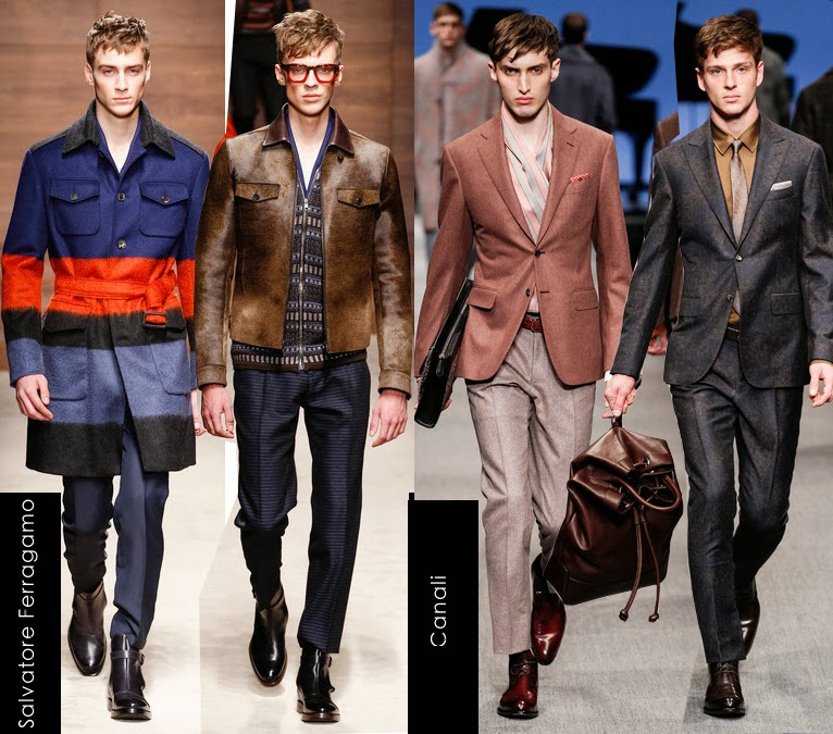 salvatore ferragamo and canali mens 2014