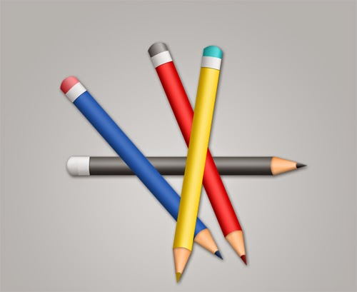 Create a Color Pencil Icon In Photoshop