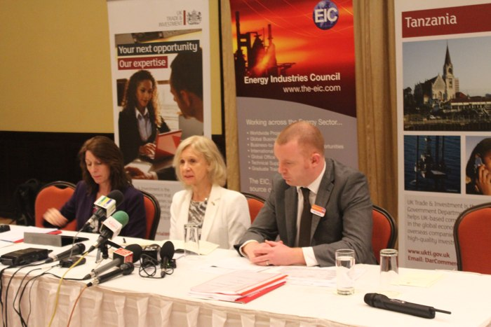 HE British High Commissioner, Dianna Melrose (at the center) and Ms. Anne MacColl-Chief Executive of Scottish Development International (at the left) and Mr. Neil Golding-Head of Oil and Gas from Energy Industries Council-(at the right)