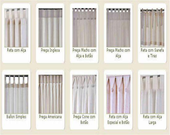 Eita sou dona de casa cortinas para sala - Diferentes tipos de cortinas ...