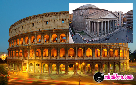 Colosseum dan Pantheon