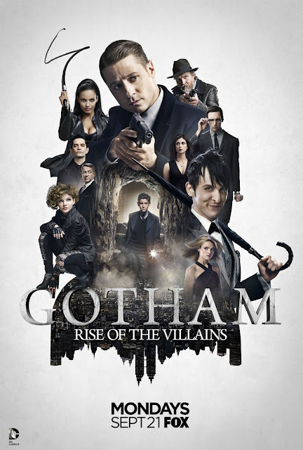 "Gotham Season 2 ""Rise of the Villains"" Teaser One Sheet Television Poster"