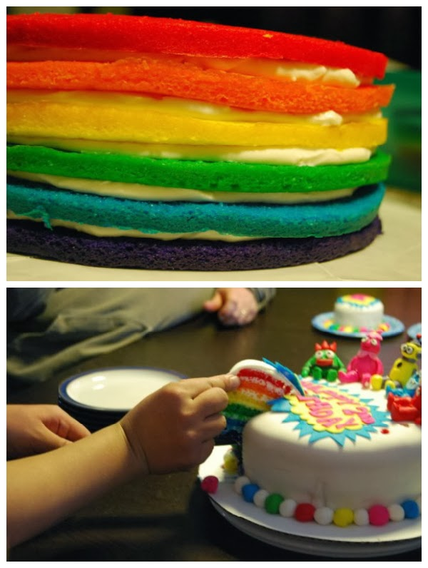 Yo Gabba Gabba Birthday Cake Cake Magic Maple Leaf Mommy