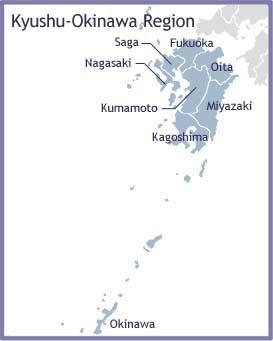 Kyushu Map Regional City