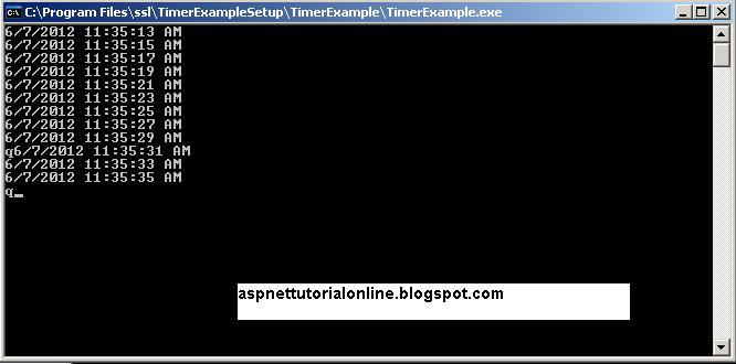 Timer example in c#.net